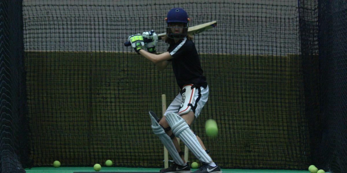 Batsman in the Southern cricket nets