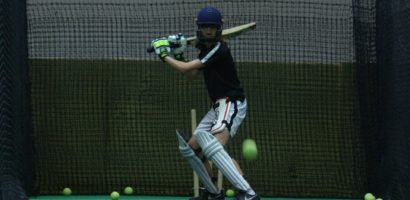 Batsman in the Southern cricket nets